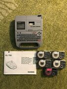 Casio Ez Label Printer Kl-750 Thermal Words/labels Printer 4 New Tapes And Booklet