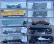 N Scale Mtl Chesapeake And Ohio Cando Flat Box Troop Car Hopper Lot All Different