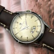 Vintage 1960 Menand039s Girard-perregaux Alarm 17 Jewels Swiss Serviced And Warranty
