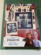"""Disneys Frozen 2 """"learn To Sew"""" Play Mat Panel Cotton Fabric Book"""