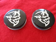 2 Custom Center Caps Fits Hellcat Demon Jeep Trackhawk Challenger Charger