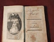 Wm James Letters Of Charlotte During Her Connexion W/ Werter 1797 Antique Book