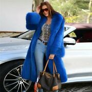 Made To Measure Genuine Long Hoodie Fox Fur Coat Made In Italy Size 2xl