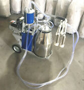 Stainless Steel Piston Milker Electric Milking Machine Cows Goats 110v Farm New