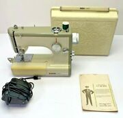 Vintage Sears Kenmore Portable Sewing Machine Model 158-10400 Rose Case Pedal