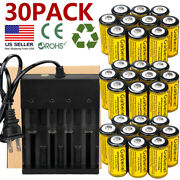 2800mah Batteries Cr123a 16340 Rechargeable Li-ion Battery For Camera Torch Lot
