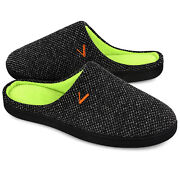 Mens Memory Foam Cozy Knit Slippers Indoor Outdoor House Shoes Slip On Clogs