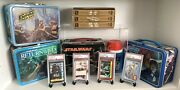 Vintage Star Wars Lunchbox 4 Pieces W/ Thermosdisplay Cases Vhs And Cards