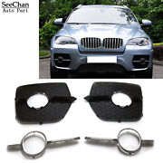 Fit For Bmw X6 E71 E72 08-14 Set Front L+r Bumper Lateral Grill Cover And Trim