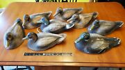 Vtg Styrofoam Carry-lite Milwaukee Wis Duck Decoys With Pose-able Heads
