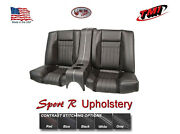 Sport R Rear Seat Upholstery W/console And Foam For 1969 Camaro W/53 Nf Seat