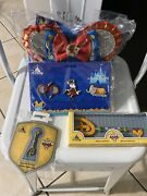 Disney Minnie Mouse Main Attraction Dumbo Pin, Bag Set And Pluto 90th Anni Set