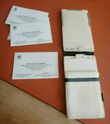 Vintage 1940's Boy Scout Master's Personal Id/calendar Hand Card Book Wallet Vg