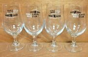 Ommegang Brewery Double White Glass Set Of 4 Glasses 13.5 Oz Cooperstown Ny New