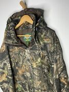 Cabelas X-large Tall Dry Plus Camo Jacket Hunting Camping Green Coat Hooded Read