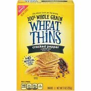 Wheat Thins Cracked Pepper And Olive Oil Crackers 9 Ounce Pack Of 6