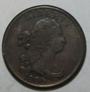 1806 Us Half Cent Small 6 Stemless Mp242