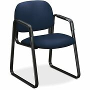 Hon Guest Chair W/arms Sled Base 23-1/2x25-1/2and039x32-1/2and039 Ny//bk 4008cu98t