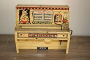 Antique Unique Art Lil Abner Piano Tin Litho Wind Up Toy 2