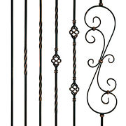 5x 10x 15x Pack Oil Rubbed Copper Iron Balusters Spindles Metal Stair Parts