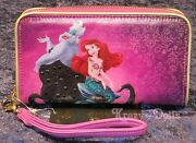Disney Designer Fairytale Doll Collection Ariel And Ursula Smartphone Wallet New