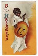 Halloween Postcard Signed By Clapsaddle Mechanical Series 1236
