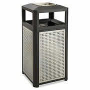 Safco Ashtray-top Evos Series Steel Waste Container 38gal Black 9935bl