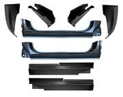 Inner Outer Rocker Panel Cab Corner And Mount Kit For 73-87 Chevy Gmc Pickup