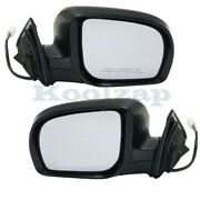 Fits 11-13 Forester Rear View Door Mirror Power Heated W/turn Signal Set Pair