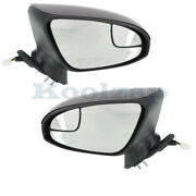 For 2013 Venza Rear View Mirror Power Heated W/signal And Puddle Lamp Set Pair