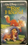 The Fox And The Hound Vhs 1994black Diamond Rare Vintage Disney Collector 2041