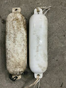 Lot Of 2 Taylor Made Marine Boat Fenders White