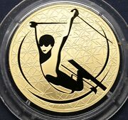 2010 Russia 200 Roubles Winter Sport Freestyle Skiing Sochi 1 Oz Gold Proof