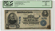 1902 5 Banknote Plain Back First Nb Of Napa Ca Pcgs Apparent F-12 Ch 7176