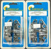 Whitecap Marine 3 1/8 Hatch Hinge Chrome Plated Brass Removable Pin Pack Of 2