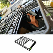 For Jeep 2017-20 Compass Black Steel Roof Rail Luggage Rack Luggage Carrier 1set