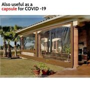 Waterproof Commercial Grade 0.5mm Tpu Clear Awning Canopy Patio Enclosure 100