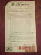 1954 Warranty Deed Palm Beach County Florida Belle Glade Doc Stamps Raised Seal