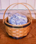 Longaberger Rare Retired 2000 Bee Basket Jewelry Pouch Set- New- Shop Store