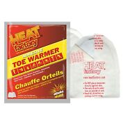 Heat Factory 1945 Adhesive Toe Warmer 6 Hours Non-toxic 160 Pair Foot Warmers