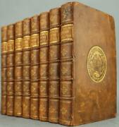 Rare 1730 Plutarch's Lives Illustrated Copper Plates Full Leather 290 Years Old