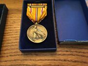 Medallic Art Co. Asiatic-pacific Campaign For Good Conduct Medal Lot 2 Medals