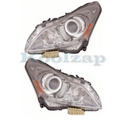 For 10-13 G37/g25 And 2015 Q40 Front Headlight Headlamp Xenon Head Lamp Set Pair
