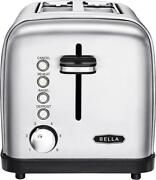 Bella - Classics 2-slice Wide-slot Toaster - Stainless Steel