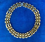 Heavy Vintage Mexico Taxco 925 Sterling Silver And Copper Choker Ta-137