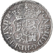 [874848] Coin Mexico Charles Iii 2 Reales 1768 Mexico City Au50-53