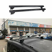 Fit For Jeep Compass 2008-2010 Black Aluminum Top Roof Rack Luggage Carrier Rail