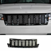 For 2011-13 Jeep Grand Cherokee Black Front Center Mesh Grille Grill Cover Trim