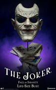 Sideshow The Joker Face Of Insanity Life-size Bust Statue Batman 245/1000 New