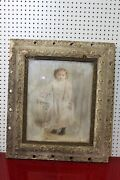 25 X 29 Very Early Framed Portrait Of A Little Girl - Needs Restoration